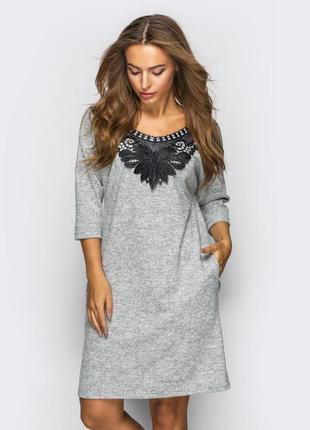 Платье из трикотажа ангора