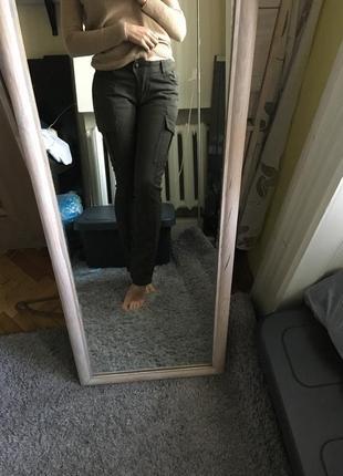 Добротные высокая посадка джинсы скинни хаки на рост от 170 10-12 crafted