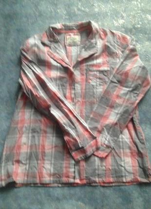 Love to lounge рубашка кофта домашняя пижама в клеточку р.14-16 xl-2xl. лучшая цена!