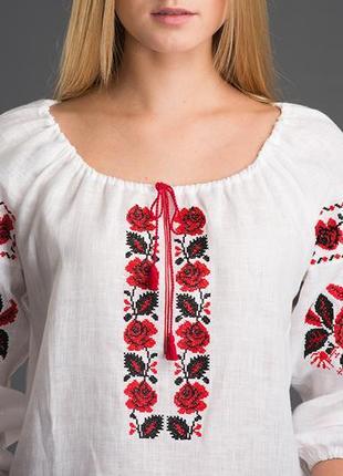 Жіноча вишита сорочка folkfashion льон