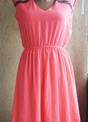 Женское платье коралл шифон 202