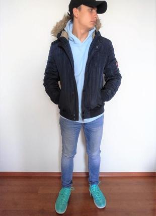 Мужская куртка here&there синего цвета