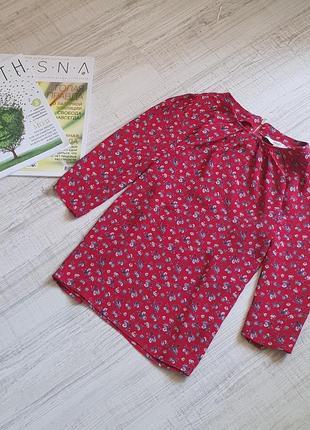 Стильная блуза в цветочек