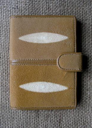Документница для карт и паспорта,100% кожа ската+телячья