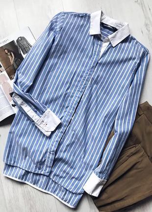 Классическая рубашка в полоску zara