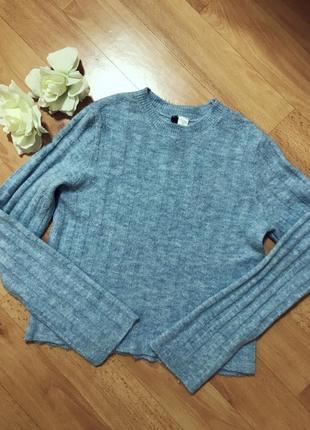 Теплый свитер джемпер в составе альпака и шерсть