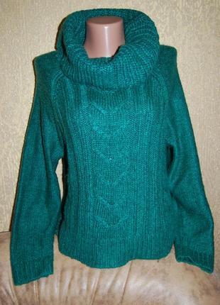 Стильный брендовый свитер сзади длиннее
