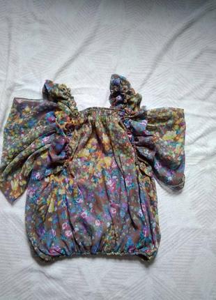 Блузка шикарная разноцветная a.m.n. 46