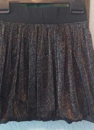 Чудесная пышная брендовая юбочка с люрексом