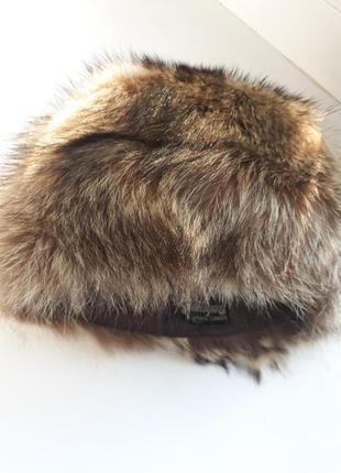 Снизила цену!!! шапка из чернобурки зимняя