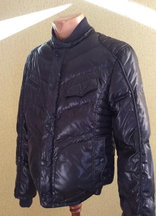 Мужской пуховик куртка guess оригинал 80% пуха 20% пера размер s-m
