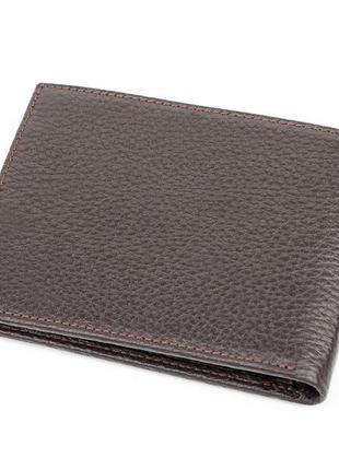Портмоне мужское karya 17082 кожаное коричневое, коричневый