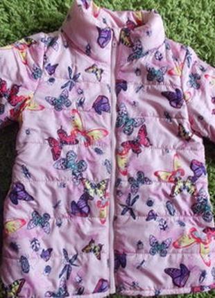 Куртка h&m с бабочками и жучками