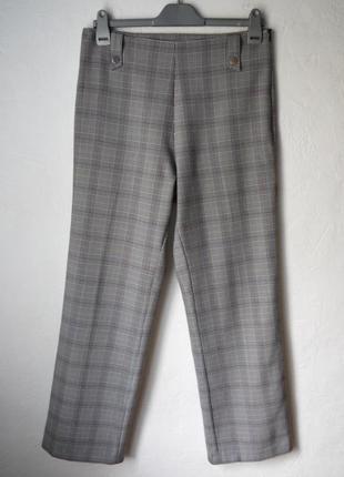 Стильные брюки в клетку высокая посадка
