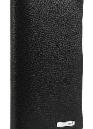 Портмоне вертикальное karya 17133 кожа черное, черный