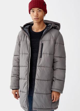 Мужская удлиненная куртка дутая pull and bear размер s m l xl