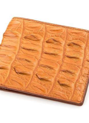 Кошелек crocodile leather 18163 из натуральной кожи крокодила коричневый