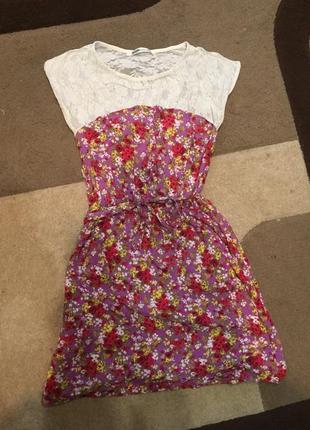 Короткое летнее платье bershka