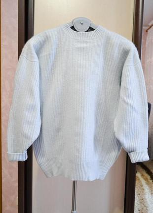 Кашемировый свитер небесного цвета