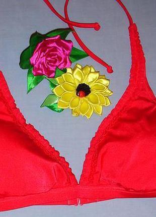 Верх от купальника раздельного топ лиф бюст чашка 80-85 в с красный розовый бикини