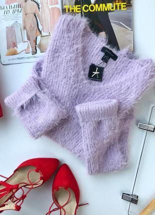 Лавандовый оверсайз свитер-травка atmosphere