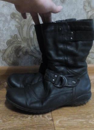 Easy street™ кожаные сапоги полусапожки , 41р. кожа!!!