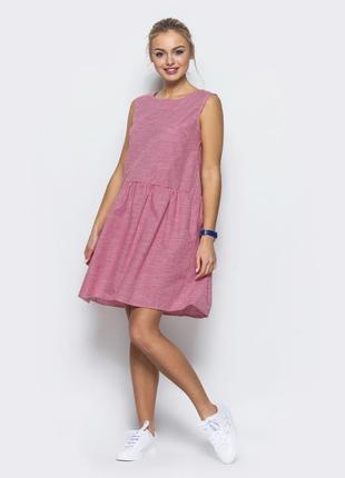 Хлопковое платье в модную клетку виши.