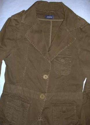 Куртка пиджак на рост 146-152 см 10-11 лет коттон демисезон легкая  пиджак детский куртка