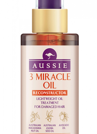 Австралийское масло для волос aussie 3 miracle oil reconstructor