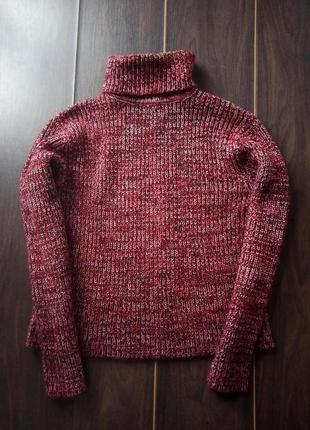 Вязаный шерстяной свитер гольф