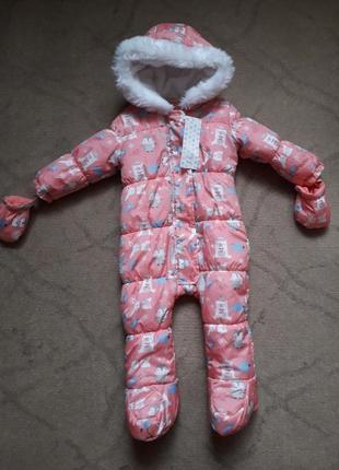 Демисезонный комбинезон на девочку с 6 месяцев