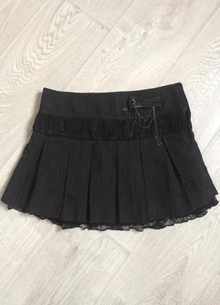 Двухслойная юбка в складку с кружевной отделкой jennifer
