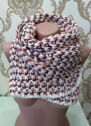 Тёплый шарф крупная вязка