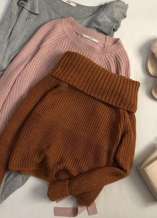 Красивейший теплый свитер с горлом marks & spencer