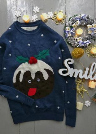 Новогодний нарядный свитер merry christmas new year №1