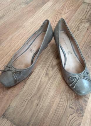 Туфли полностью кожаные