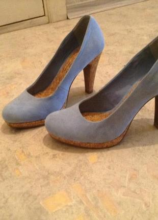 Замшевые туфли marco tozzi