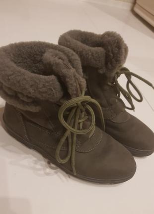 Ботинки зимние сапоги овчина мех