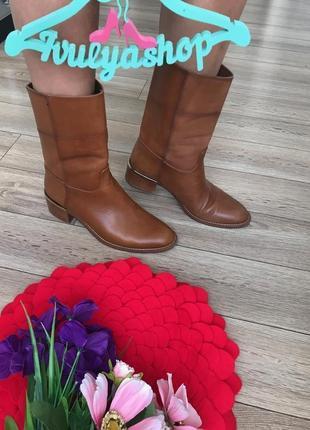 Удобные кожаные ботинки от massimo duti оригинал massimo dutti