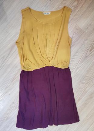 Яркое лёгкое двуцветное летнее платье. 12 (м)