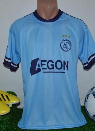 Брендовая футбольная спортивная футболка fc ajax aegon de jong 10