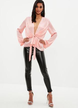 Красивая розовая блуза missguided