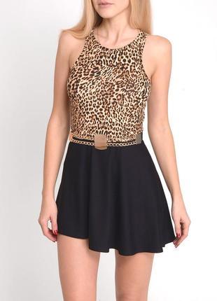 Xs, m, l. sale. леопардовое мини-платье от tanya prince. летнее платье, сарафан