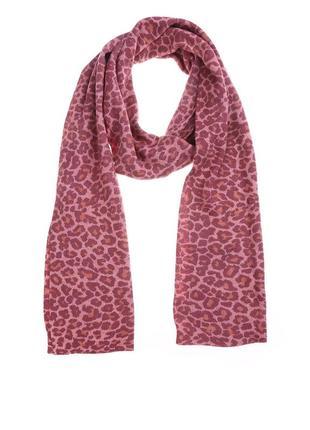 Benetton шарф леопардовый шерсть