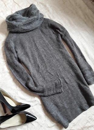 Теплое вязаное платье  etam (италия) , шерсть, ангора