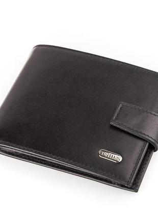 Кошелек мужской canpellini 17035 кожаный черный
