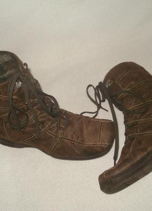 36-37 р./23,5 cм. фирменные зимние утепленные ботинки