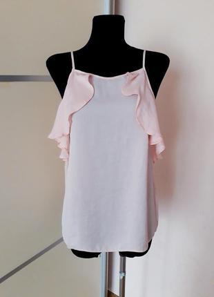1+1=3 шикарная майка блуза с воланами рюшами