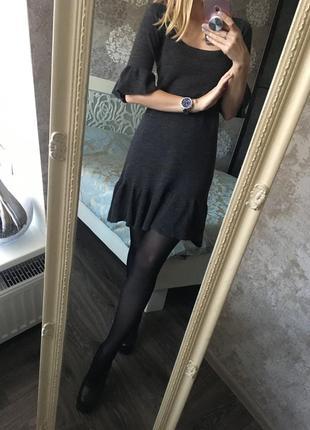 100% шерсть платье