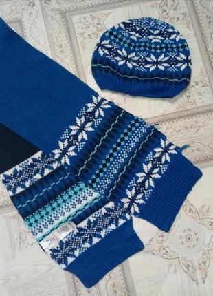 Комплект шапка+шарф фирмы george 1-3 лет